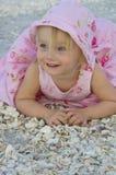 Toddler on beach Stock Photo