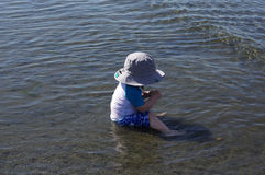 Toddler on Beach Royalty Free Stock Photography