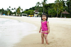 Toddler at the beach Royalty Free Stock Images