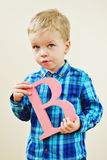 Toddler blonde boy Royalty Free Stock Photography