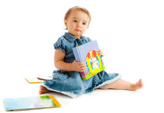 Toddler with book Royalty Free Stock Image