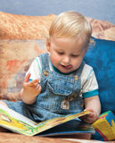 Toddler with book Royalty Free Stock Photography