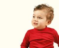 Toddler boy. Toddler in red stock photos