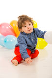 Toddler boy with balloons Royalty Free Stock Image