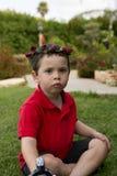Toddler Boy Birthday flower bouquet Stock Photo