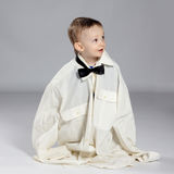 Toddler boy businessman Royalty Free Stock Photography