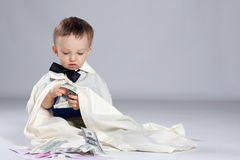 Toddler boy businessman Stock Photography
