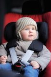 Toddler boy in car seat Royalty Free Stock Photography