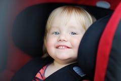 Toddler boy in car seat Royalty Free Stock Images