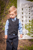 Toddler boy dressed up in suit Royalty Free Stock Photos