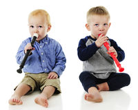 Toddler Boy Duet Royalty Free Stock Photos