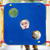 Toddler boy fun on playground. Beautiful toddler boy having fun on playground Royalty Free Stock Images