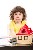 Toddler boy at kindergarten Stock Photography