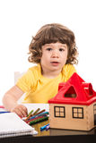 Toddler boy at kindergarten Royalty Free Stock Images