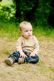 Toddler boy on the meadow Stock Photography