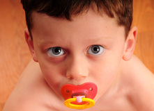 Toddler boy with pacifier Royalty Free Stock Photo