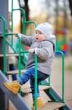 Toddler boy on playground Stock Photography