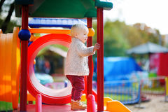 Toddler boy on playground Royalty Free Stock Photography