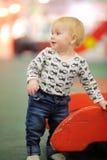 Toddler boy on playground Stock Image