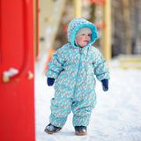 Toddler boy on playground Stock Images