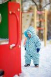 Toddler boy on playground Royalty Free Stock Photo