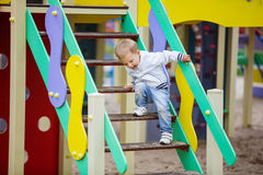 Toddler boy on playground Royalty Free Stock Images