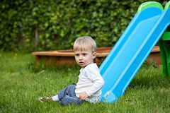 Toddler boy at the playground Stock Image