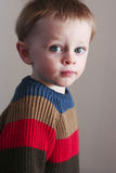 Toddler boy in rugby sweater Stock Images
