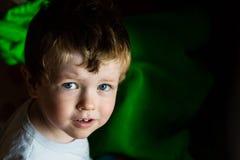 Toddler boy`s portrait royalty free stock image