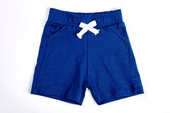 Toddler boy shorts  on white. Stock Image