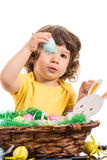 Toddler boy showing Easter egg Royalty Free Stock Photo