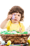 Toddler boy showing Easter egg Royalty Free Stock Images