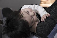 toddler boy sleeping Stock Photos