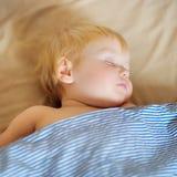 Toddler boy sleeping Royalty Free Stock Photos