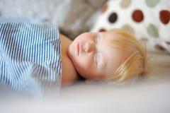 Toddler boy sleeping Royalty Free Stock Images
