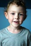 Toddler boy smiling stock image