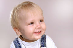 Toddler boy smiling Royalty Free Stock Images