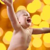 Toddler boy smiling Stock Photo