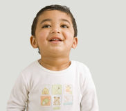 Toddler Boy Throwing His Head Back for a Laugh. Photo of a Toddler Boy Throwing His Head Back for a Laugh royalty free stock photo