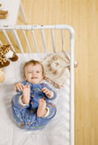 Toddler boy unhappy about taking a nap Royalty Free Stock Photography