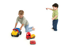 Toddler Boys Playing Stock Photos