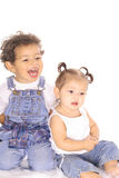 Toddler brother and sister Stock Images