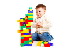 Toddler building Royalty Free Stock Images