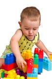 Toddler building a castle royalty free stock photos