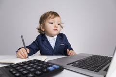 Toddler businessman Royalty Free Stock Photography