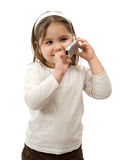 Toddler On Cell Phone Stock Photography