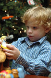 Toddler at christmas Royalty Free Stock Photography