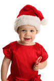 Toddler with Christmas candy Stock Photo