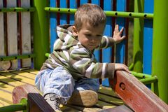 Toddler chute Stock Photo