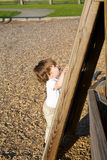 Toddler climbing Royalty Free Stock Image